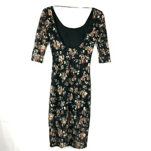 Happening In The Present Lace Floral Dress 22E